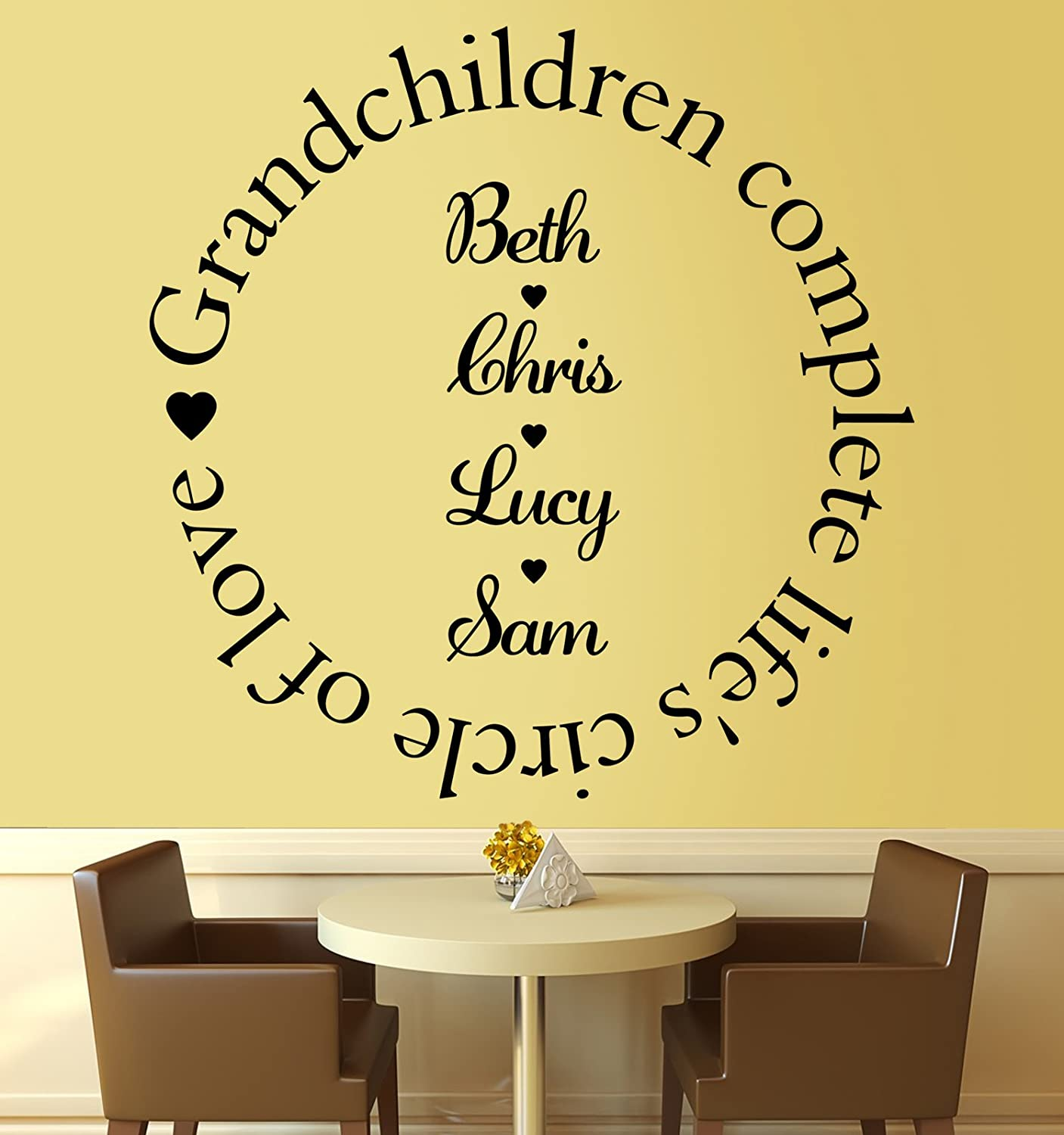 Grandchildren Complete the Circle of Love - Wall Sticker Quote ...