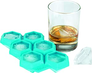 "True Zoo Diamond Large Silicone Ice Cube Tray, 1.75"", Blue"