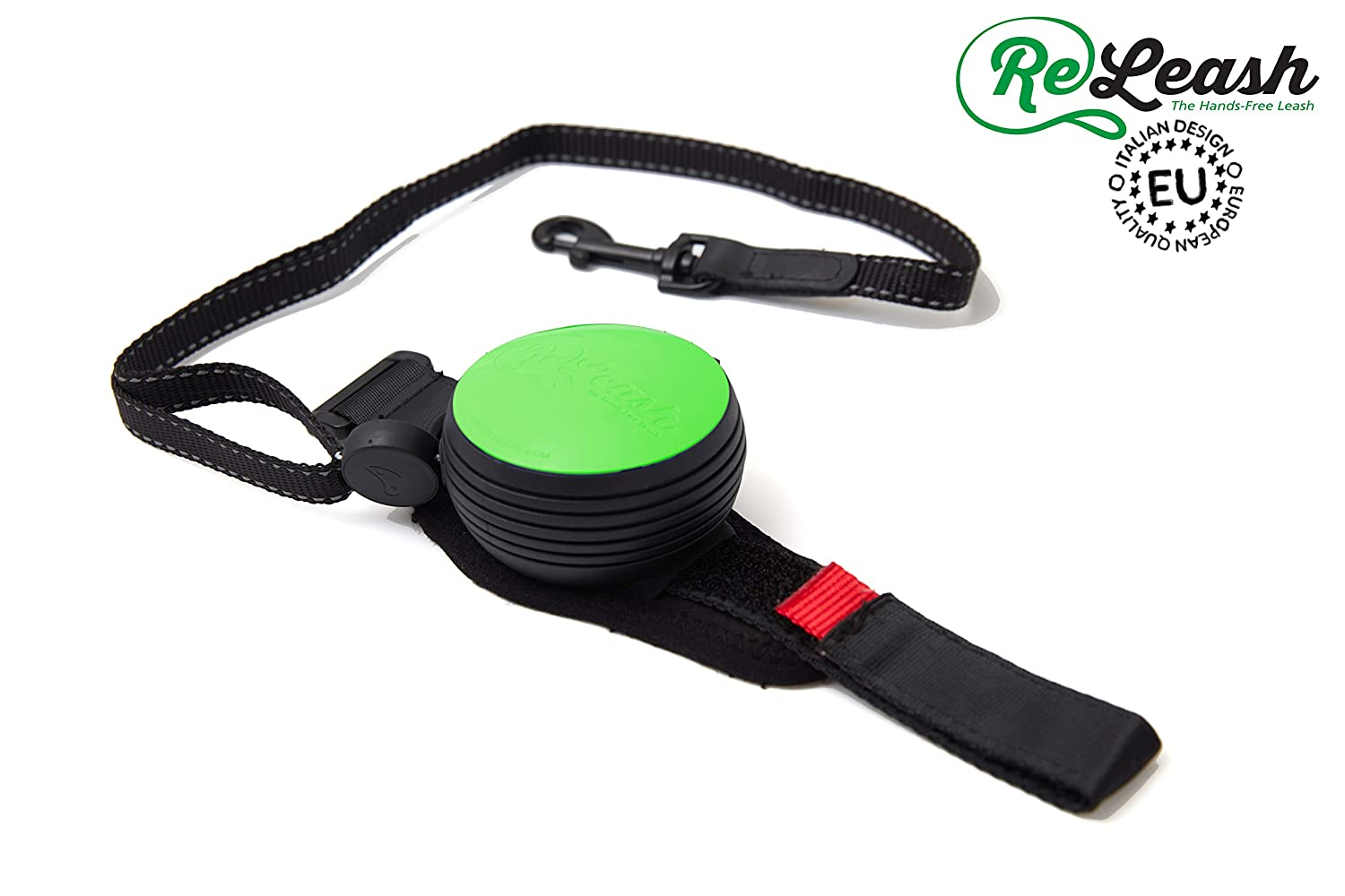 Green ReLeash Green The World's First Hands-Free Retractable Leash   Available in Multiple colors   9ft Retractable Leash