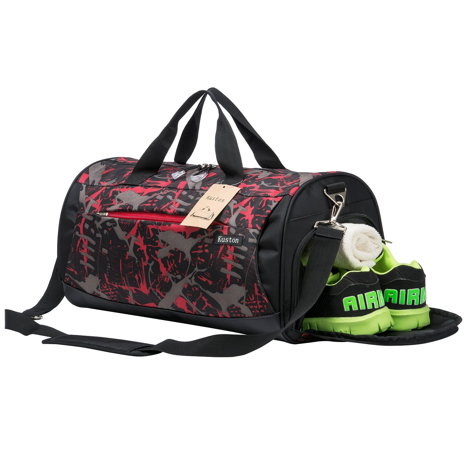 Kuston Sports Gym Bag with Shoes Compartment Travel Duffel Bag for Men and Women XMS1587