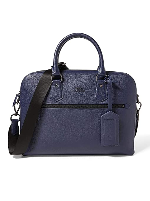 7c0a0be1e3 Ralph Lauren Men s 405650243004 Blue Leather Travel Bag  Amazon.ca  Sports    Outdoors