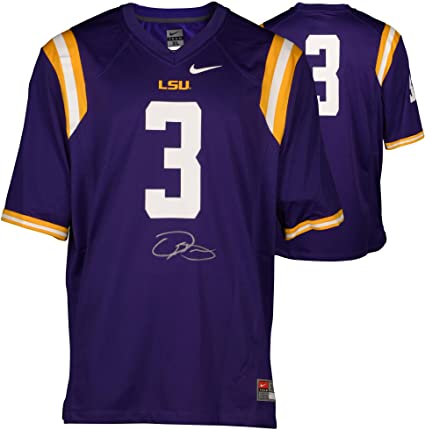 Image Unavailable. Image not available for. Color  Odell Beckham Jr. LSU  Tigers Autographed Purple Nike Game Jersey ... 7d1776a33