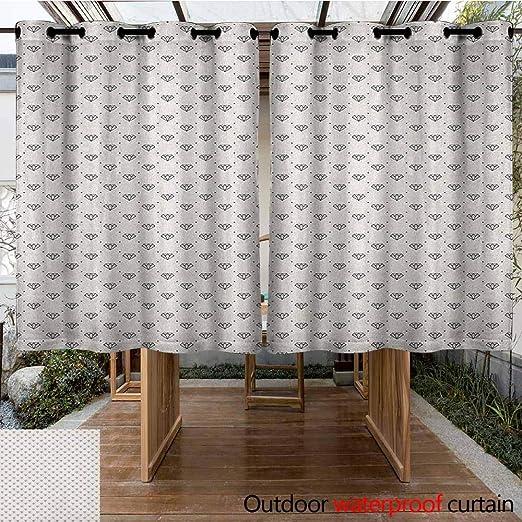 AndyTours - Cortina para Puerta corredera, diseño de Diamantes, diseño de Dibujo Hecho a Mano, diseño de Pera de Cristal Colorido, Estilo pentágono, Estilo Simple, Elegante: Amazon.es: Jardín