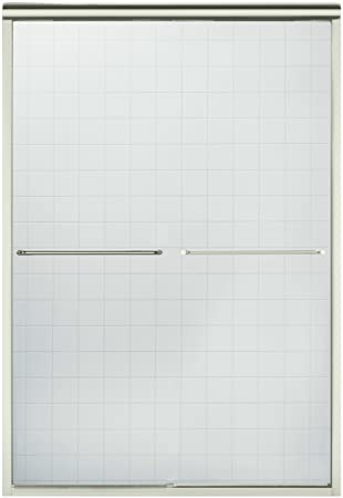 sterling 547548ng05 finesse frameless bypass shower door nickel with