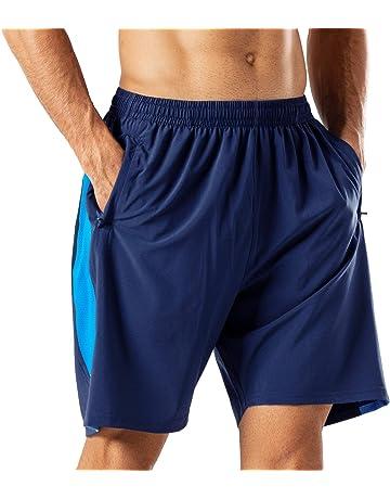 e344c148f3 Herren Sport Shorts Schnell Trocknend Kurze Hose mit Reißverschlusstasch