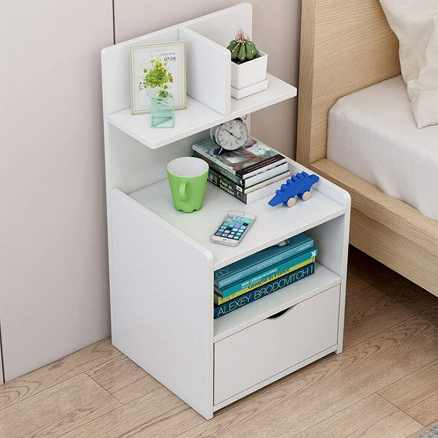 Ballshop Bedside Table Shelf Simple and Contemporary Bedroom Store Content  Ark Small Multifunctional Simple Receive Bedside Cabinet Furniture Drawer  ...