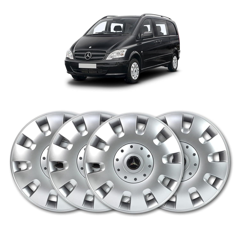 Ensemble d'enjoliveurs de roue en ABS massif 40,6cm ou 16pouces, argenté (lot de 4) 6cm ou 16pouces argenté (lot de 4) SOLARIS