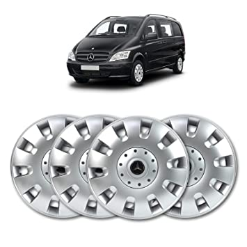 16 plata sólido abs rueda Juego de tapacubos (4 unidades)