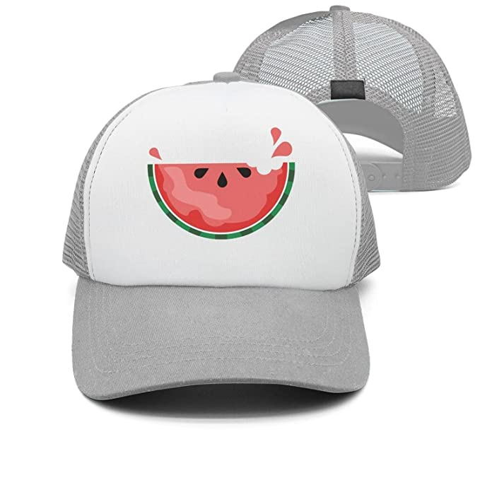 34aaa84c Style Cap Cute Fruit Clipart Watermelons Delicious Unisex Adjustable mesh  Snapback Hat