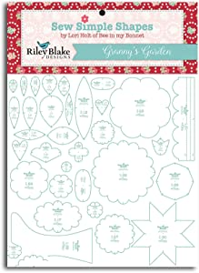 Granny's Garden Sew Simple Shapes 32 Quilt Templates Set by Lori Holt ST-2674