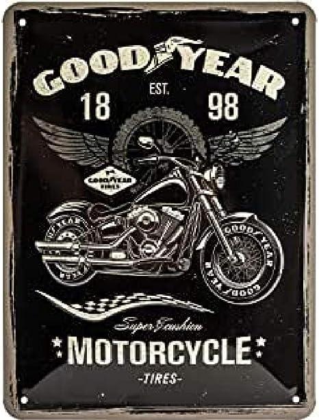 Nostalgic Art Goodyear Motorcycle Geschenk Idee Für Auto Und Motorrad Fans Retro