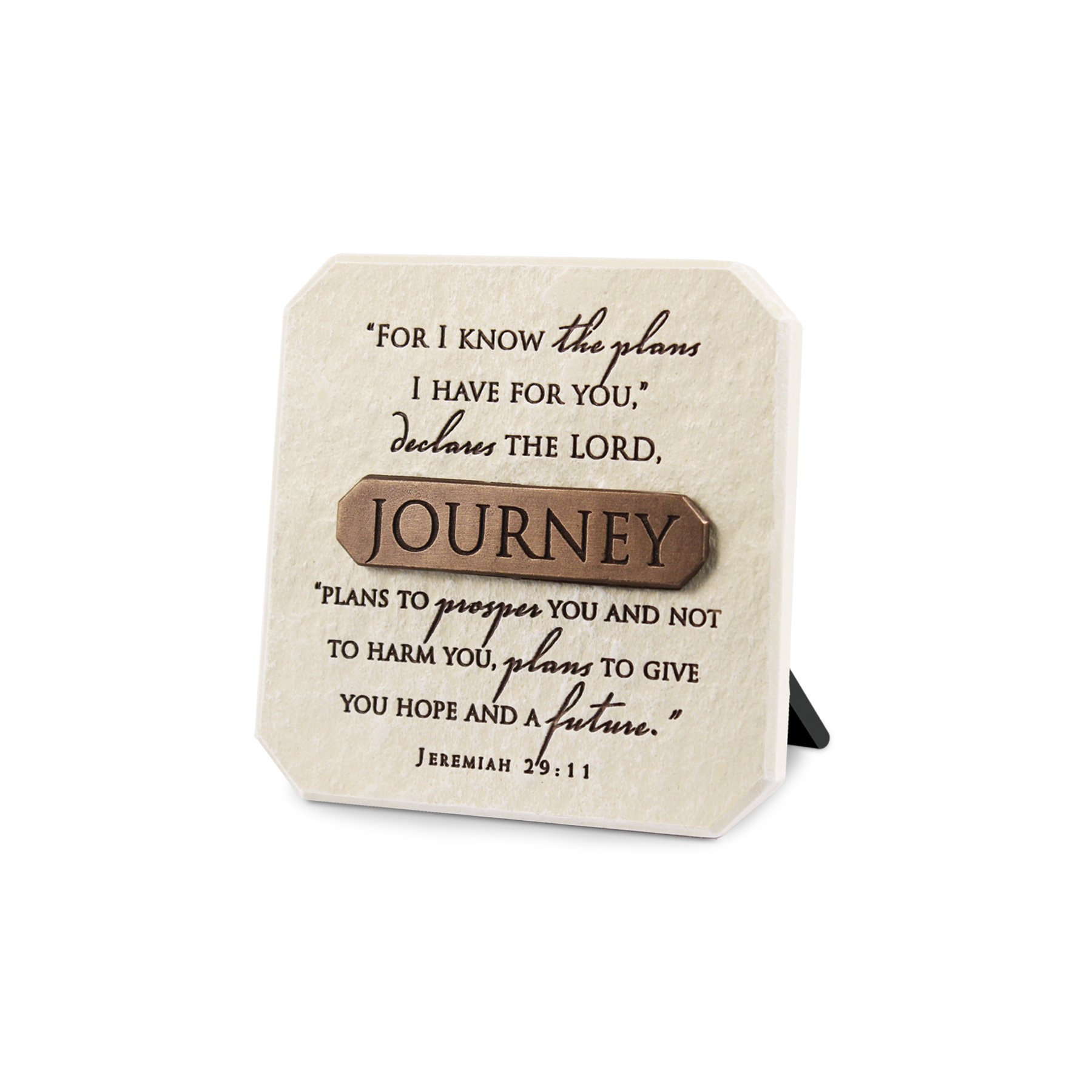 Lighthouse Christian Products Journey Title Bar Plaque, 3 3/4 x 3 3/4'', Bronze