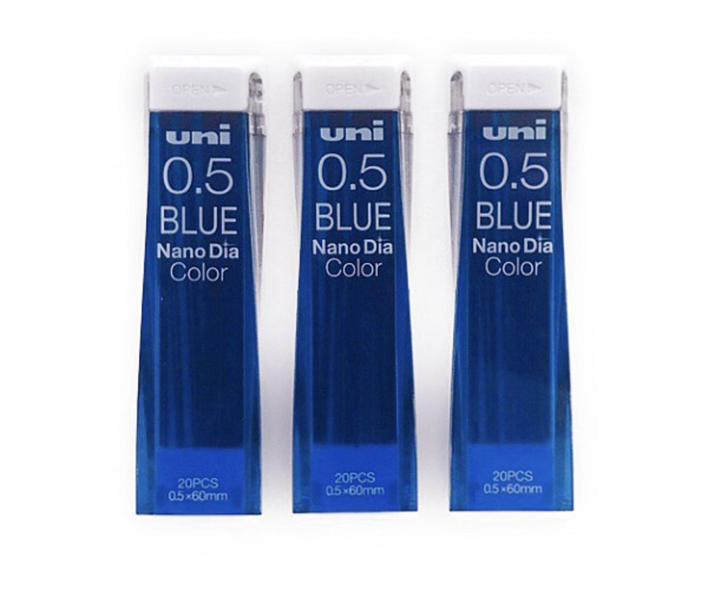 Uni NanoDia 60 Minas (3 Tubos) 0.5mm  Azul