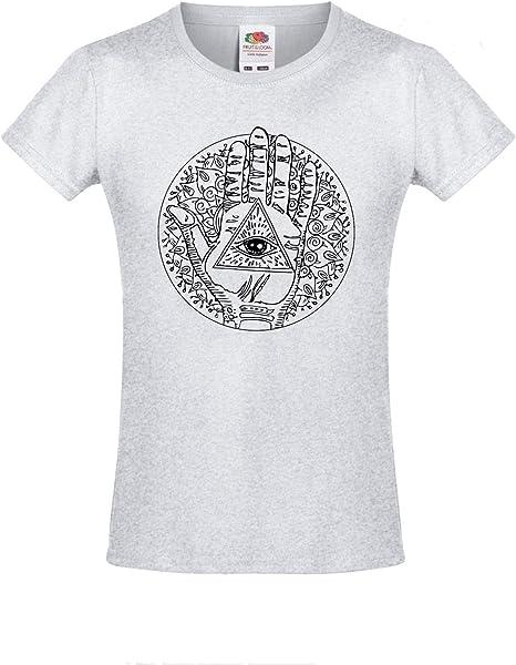 TYML Moda Todo Lo Que Se Ve Ojo Mujer Lady Fit Camiseta Algodón ...
