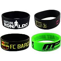 ESHOPPEE Ronaldo Cristiano CR7, MP Beast Mode, John Cena The WWE Superstar Wrist Band - Combo of 4