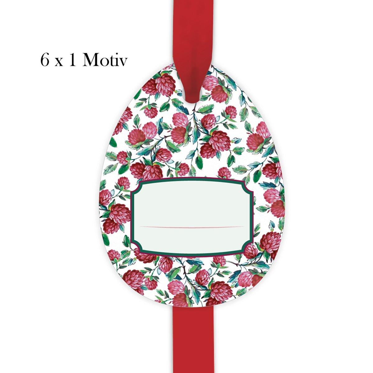 24 étiquettes de cadeau  60 étiquettes classiques de cadeau  chance   Gift Tags   voituretes-cadeaux déco en forme d'oeuf 10 x 7,5cm avec trèfle fleuri