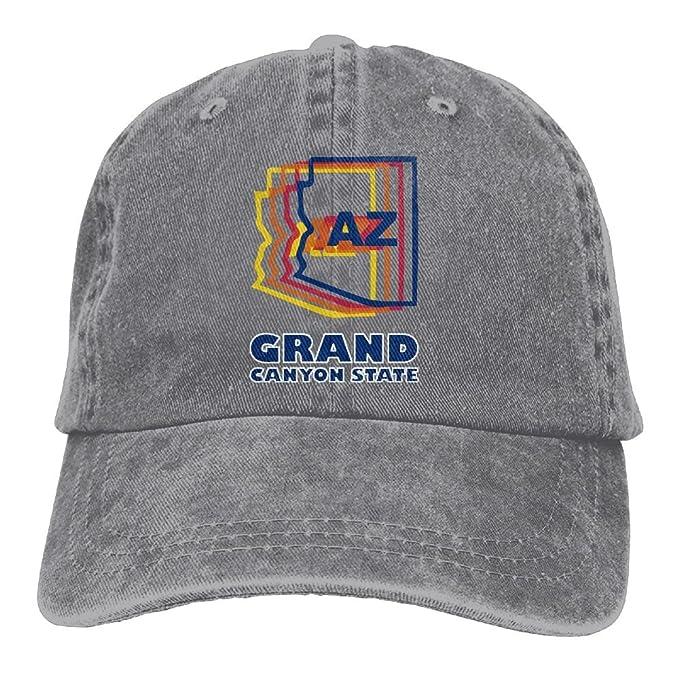 32fce1f6411dd Flag of Arizona Unisex Denim Bucket Hat Print Visor Caps at Amazon ...