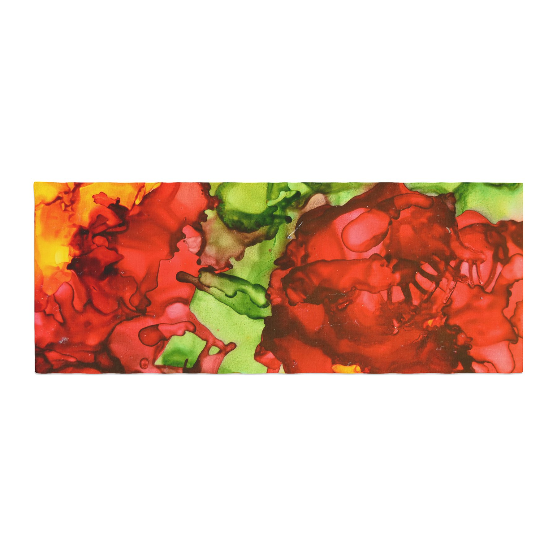 Kess InHouse Claire Day One Love Red Orange Bed Runner, 34'' x 86''