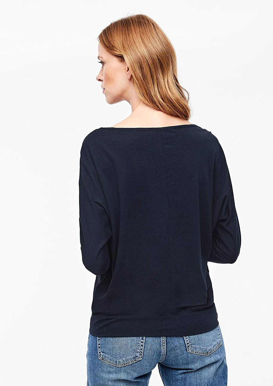 s.Oliver RED Label Damen Langarmshirt mit H/äkelspitze