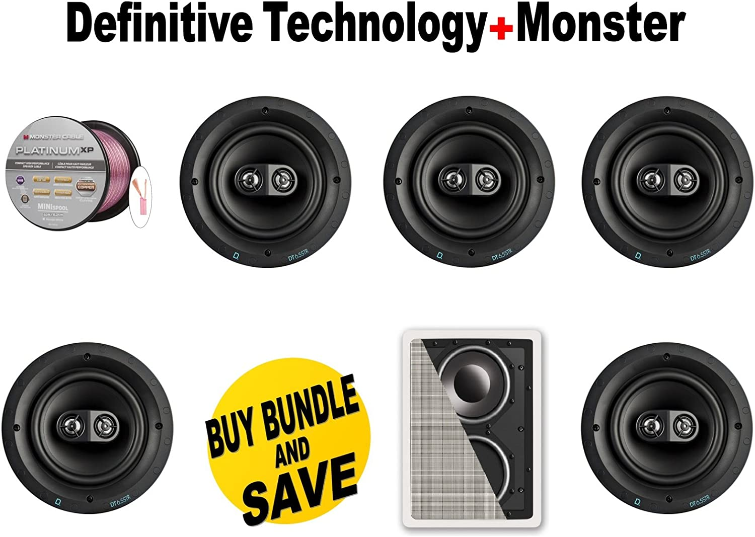 Single Stereo NEW Definitive Technology DT6.5STR In-Ceiling Speaker