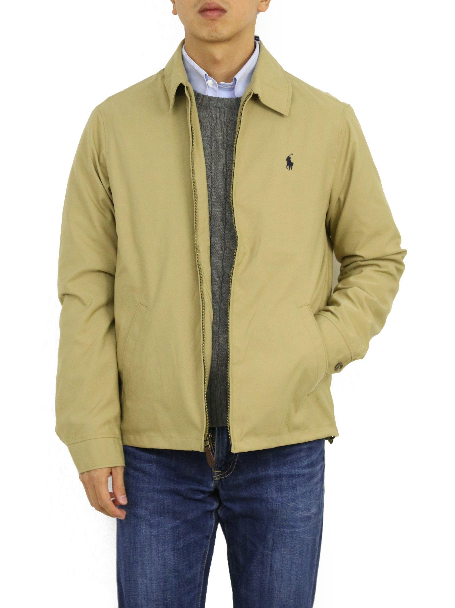 0887f8b10d16b1 Galleon - Polo Ralph Lauren Mens Bi-Swing Windbreaker Jacket (Tan, X-Large)