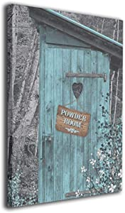 Canvas Print Wall Art Vintage Outhouse Picture Painting For Modern Home Living Room Decorations Bedroom Decor Ready To Hang Stretched And Framed Artwork 16''X20''