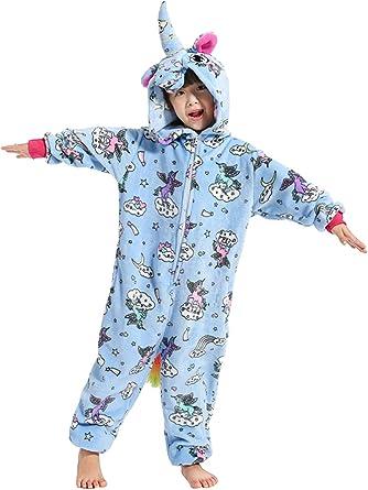 Niños Unisex Unicornio Animales Loungewear Pijamas Ropa de Fiesta Ropa de Dormir Disfraces Cosplay
