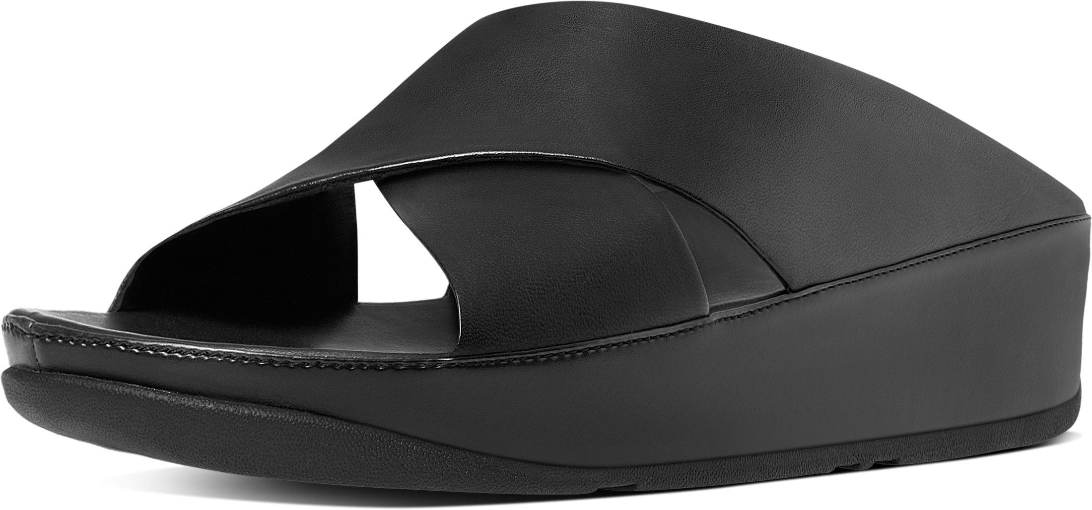 FitFlop Trade; Womens KYS&Trade; Leather Slide Sandals All Black Size 9 by FitFlop