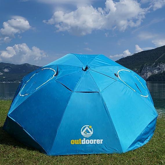Outdoorer Sombrello Blau Der Strandschirm Mit Zertifiziertem Uv 80