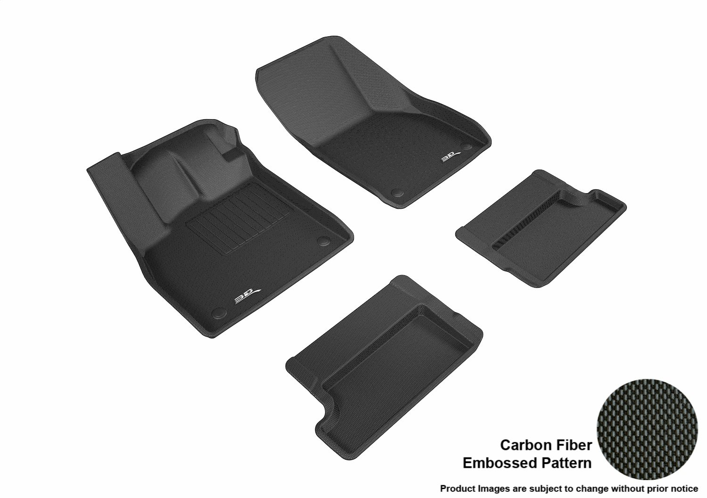 3D MAXpider L1AD04601509 R1 R2 Kagu Floor Mat for Audi TT 2016-2017, Black B074WC91WR