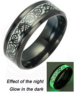 Amazoncom Celtic Dragon Rings For Men Women Stainless Steel