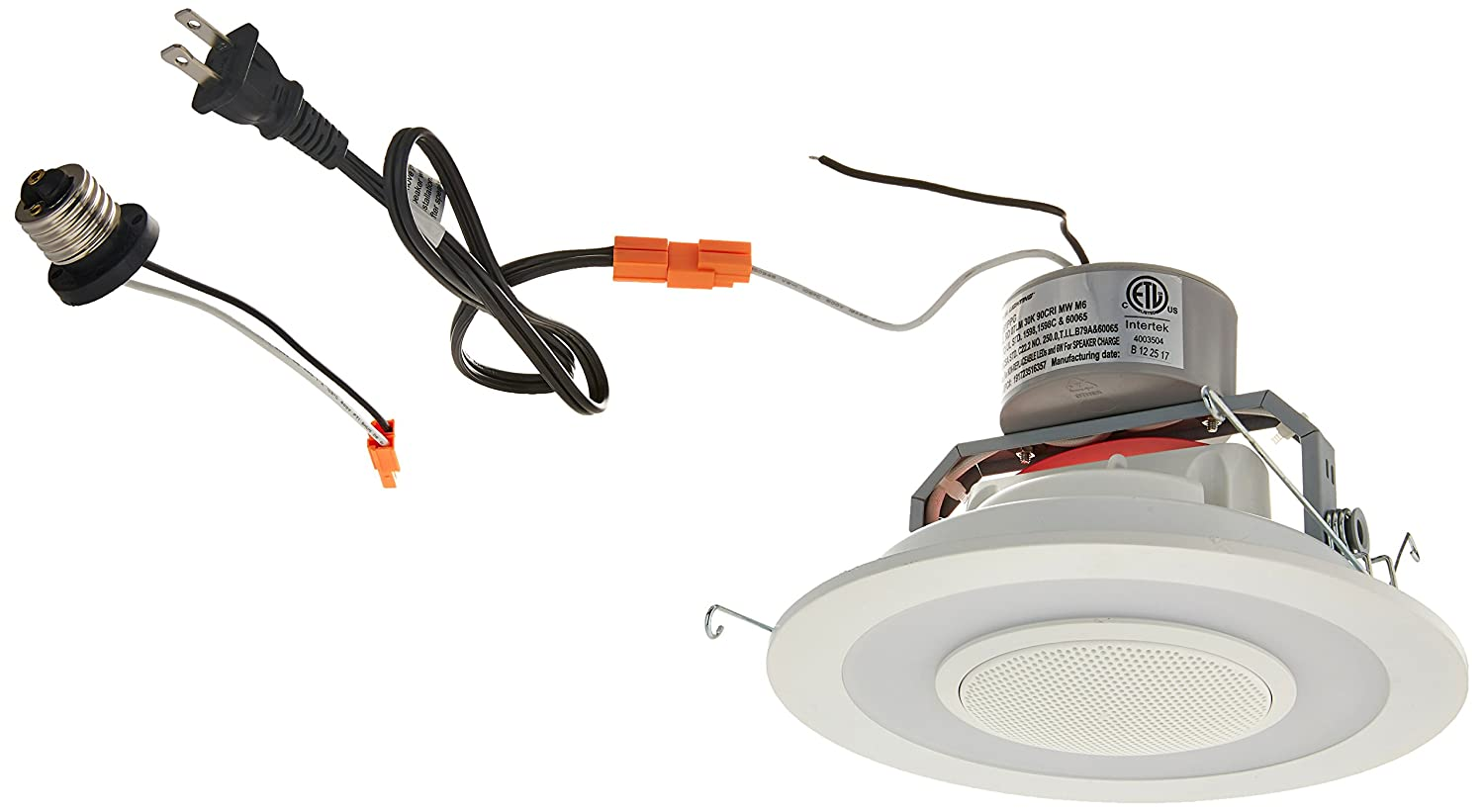 Lithonia Lighting 6SL RD 07LM 30K 90CRI MW M6 6 Dimmable LED Retrofit Module with Integrated Bluetooth Speaker, 3000K|Bright White, Matte White Lithonia Acuity 260V5L