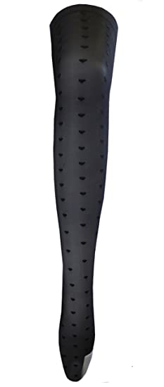 """Flirt Designer Footless Tights in Various Colour /& Designs  Fits upto 42/"""" Hips"""