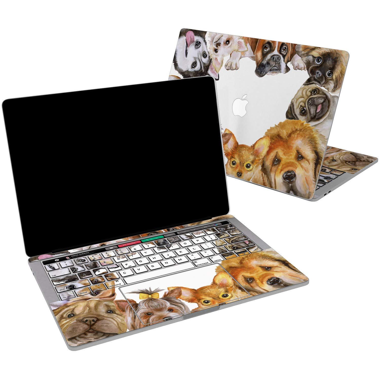 Lex Altern Vinyl Skin for MacBook Air 13 inch Mac Pro 15 Retina 12 11 2019 2018 2017 2016 2015 Cute Dogs Breeds Doggy Husky Funny Animals Puppy Print Laptop Cover Keyboard Decal Sticker Top Women