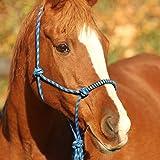 netproshop Knotenhalfter mit Führstrick für Bodenarbeit Auswahl Pony, Cob Oder Full