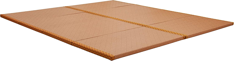 "MustMat Japanese Tatami Mat Traditional Futon Mattress Rattan Firm and Folds Easily 35.4""x78.7""x1.2"" (2 Piece Set)"