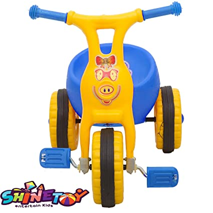 SHINETOY™ Entertain Kids Ducky Baby Tricycle Ride-on Bicycle, ABS Plastic, Unbreakable,for Boys and Girls, 1-2 Years (Blue)