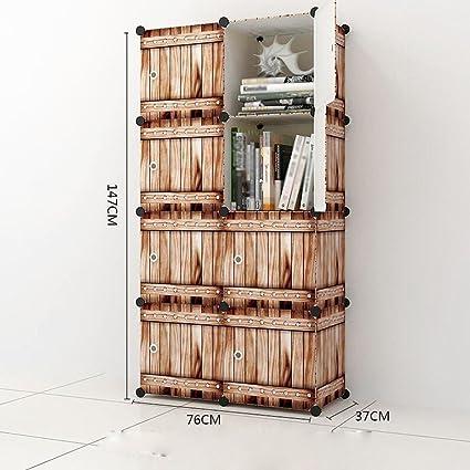 76 * 37 * 147cm C Estantería simple de la resina del estante ...