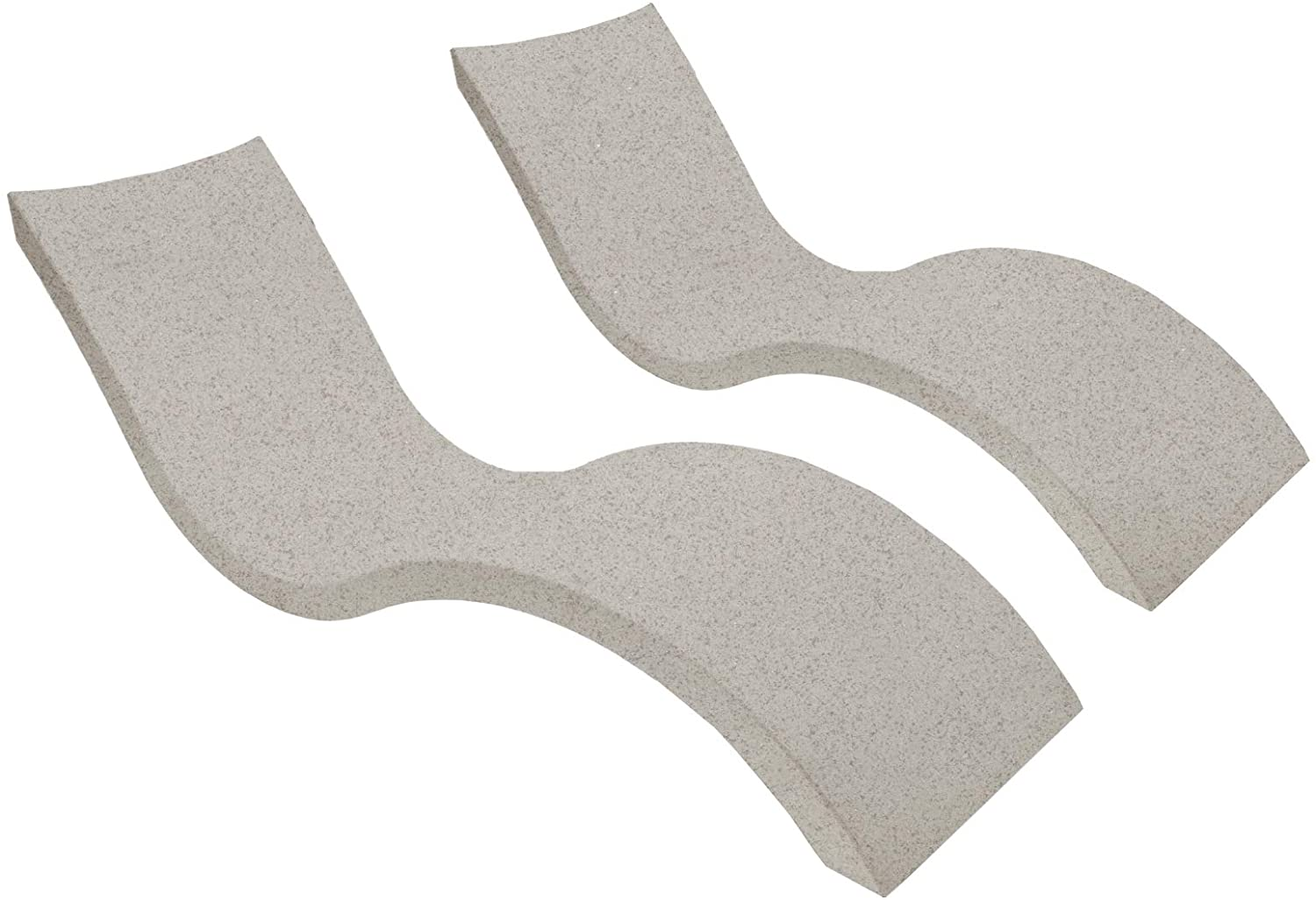 Ledge Lounger in-Pool Chaise Lounge for 0-9 in. of Water Set of 2, Sandstone