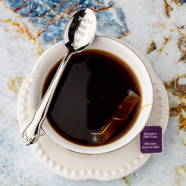 Teeccino Dandelion Tea – Dark Roast – Rich & Roasted Herbal Tea That's Caffeine Free & Prebiotic with Detoxifying Dandelion Root