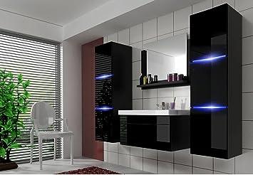 Moderne badezimmermöbel schwarz  Home Direct AMANDA 2, Moderne Badmöbel, Badeschränke, mit ...