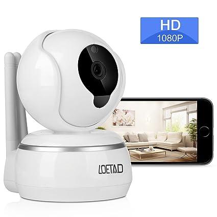 loetad Vigilancia 1080P HD WIFI Cámara IP de 2 Vías de audio Visión Nocturna Soporta mando