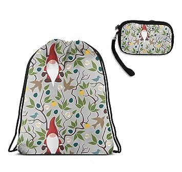 Amazon.com: Mochila con cordón de Papá Noel con bolsa de ...