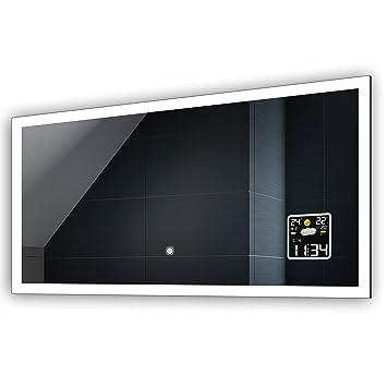FORAM Anpassen Design Badspiegel mit LED Beleuchtung - Individuell Nach Maß  mit Schalter zu Wählen und Zubehör - Beleuchtet Wandspiegel Lichtspiegel ...