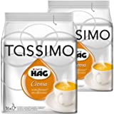 Tassimo Café HAG Crema Descafeinado, Paquete de 2, 2 x 16 T-Discs