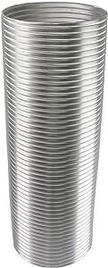 Awoco 8 Inches Diameter x 6 Feet Long Semi-Rigid Flexible Aluminum Duct - Ideal for Kitchen, Bathroom, Range Hood Venting (8 Inch)