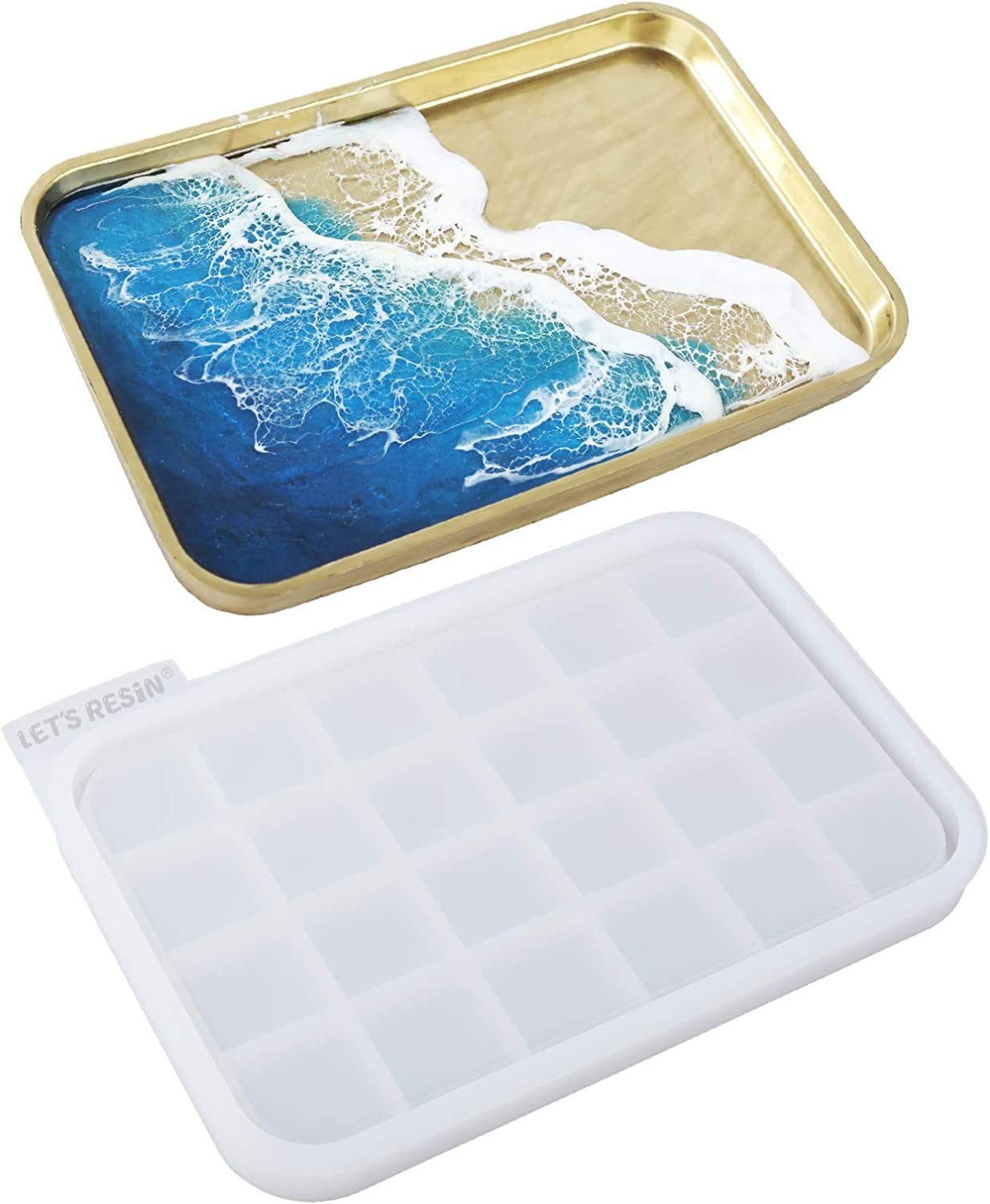 Maple Leaf Tray Resin Mold Rolling Tray Resin Mold,Sturdy Silicone Tray Molds for DIY Jewelry Casting Trinkets Storage,Rolling Tray Molds for Epoxy Resin,DIY Jewelry Holder,Home Decoration