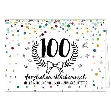 Große Glückwunschkarte Zum 100 Geburtstag Xxl A4 Modernmit Umschlagedle Design Klappkarteglückwunschhappy Birthday Geburtstagskarteextra