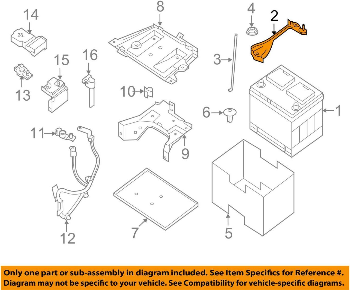 amazon.com: genuine nissan parts - battery frame (24420-zx60a), regular:  automotive  amazon.com