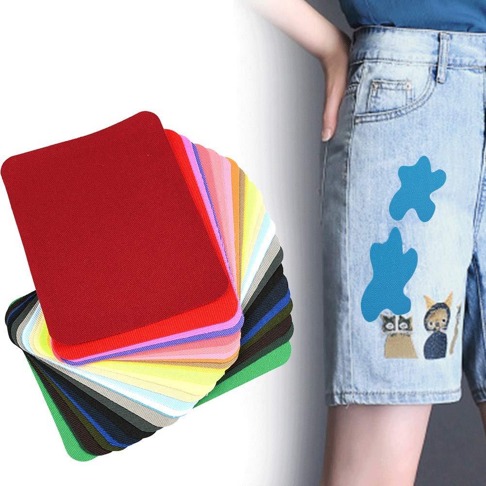 Parches Ropa Termoadhesivos Multicolor de 9.5 x 12.5 cm WOWOSS 29Pcs Parches de Mezclilla de Color para Reparaci/ón de Jean y Bricolaje